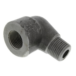 """1/4"""" 3000# A105N Carbon Steel Street 90° Elbow NPT Product Image"""