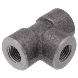 """1/4"""" 3000# A105N Carbon Steel Tee NPT Product Image"""