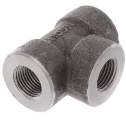 """3/8"""" 3000# A105N Carbon Steel Tee NPT Product Image"""