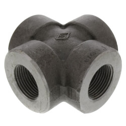 """1-1/2"""" 3000# A105N Carbon Steel Cross (NPT) Product Image"""