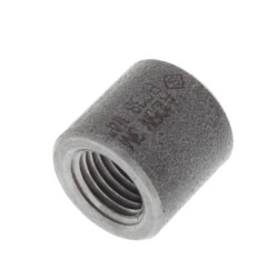 "1/8"" 3000# A105N Carbon Steel Half Coupling NPT Product Image"