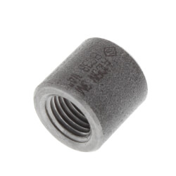 "1/4"" 3000# A105N Carbon Steel Half Coupling NPT Product Image"