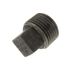 "1/2"" 3000# A105N Carbon Steel Solid Square Head Plug (NPT) Product Image"