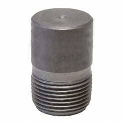 "1/2"" 3000# A105N Carbon Steel Round Head Plug (NPT) Product Image"