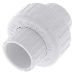 "3/4"" PVC Sch. 40 Socket Union w/ Buna-N O-ring (OLD STYLE) Product Image"
