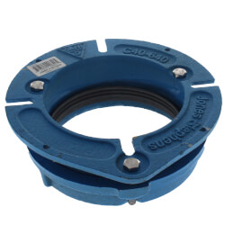 "Cast Iron Closet Flange w/ 5/16"" Bolt Slots, 4"" Offset (Blue) Product Image"