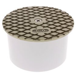 "4"" PVC Inside Pipe Fit Cleanout with 4-1/2"" Nickel Bronze Round Cover Product Image"