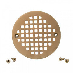 "4-1/4"" Heavy Duty<br>Round Cast Brass Strainer (Pearl Nickel) Product Image"