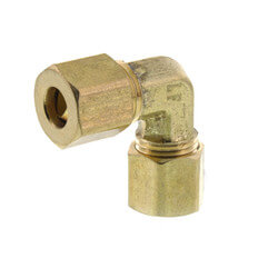"(65-4) 1/4"" OD Brass Compression Elbow<br>(Lead Free) Product Image"