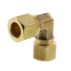 "(65-6) 3/8"" OD Brass Compression Elbow<br>(Lead Free) Product Image"