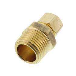 "(68-68) 3/8"" OD x 1/2"" MIP Brass Compression Connector (Lead Free) Product Image"