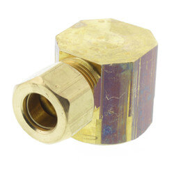 "(70-68) 3/8"" OD x 1/2"" FIP Brass Compression Elbow (Lead Free) Product Image"