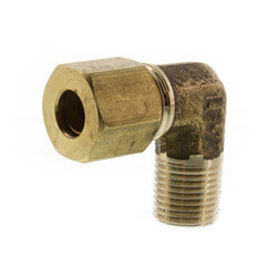 "(69-42) 1/4"" OD x 1/8"" MIP Brass Compression Elbow (Lead Free) Product Image"