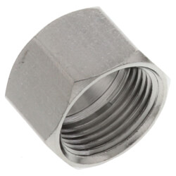 """1/2"""" OD Chrome Plated Compression Nut Product Image"""