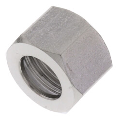 """3/8"""" OD Chrome Plated Compression Nut Product Image"""