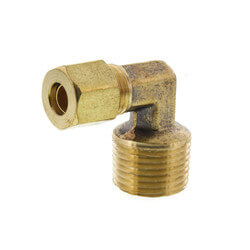 "(69-46) Lead Free 1/4""<br>OD x 3/8"" MIP Brass<br>Compression Elbow Product Image"