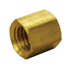 "(61-7) 7/16"" OD Brass Compression Nut Product Image"
