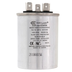 10/10 MFD Round Dual Motor Run Capacitor (370/440V) Product Image
