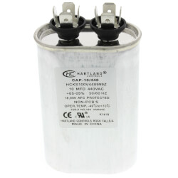 10 MFD Oval Run Capacitor (370/440V) Product Image