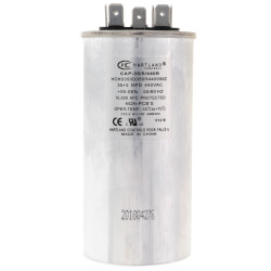 35/5 MFD Round Dual Motor Run Capacitor (370/440V) Product Image