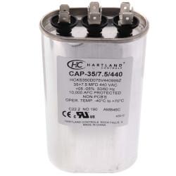 35/7.5 MFD Round Dual Motor Run Capacitor (370/440V) Product Image