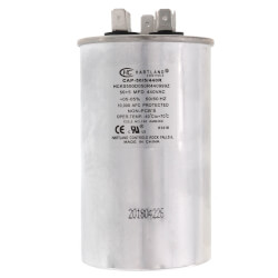 50/5 MFD Round Dual Motor Run Capacitor (370/440V) Product Image