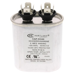 5 MFD Oval Run Capacitor (370/440V) Product Image