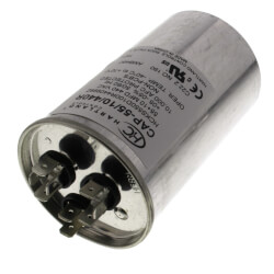 55/10 MFD Round Dual Motor Run Capacitor (370/440V) Product Image