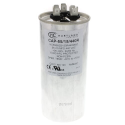 55/15 MFD Round Dual Motor Run Capacitor (370/440V) Product Image