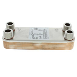 125,000 BTU/Hr (Domestic Water) CB16 Brazed Plate Heat Exchanger (13 Plates) Product Image
