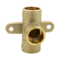 "1/2"" C X C X C Cast Brass Drop Ear Tee (Lead Free) Product Image"