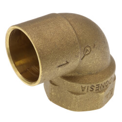 "1"" C x F  Cast Brass 90° Elbow (Lead Free) Product Image"