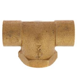 "1/2"" C x C x F Cast Brass Tee (Lead Free) Product Image"