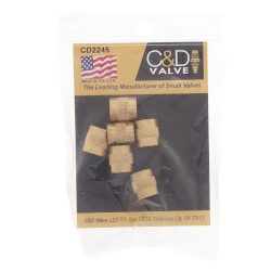 """1/4"""" Flare Brass Cap (Pack of 6) Product Image"""