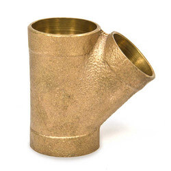 "4"" x 4"" x 2""<br>Cast Copper DWV Wye Product Image"
