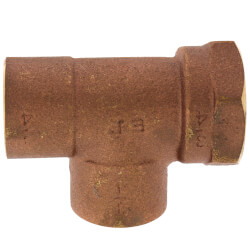 "3/4"" C x F x C Cast Brass Tee (Lead Free) Product Image"
