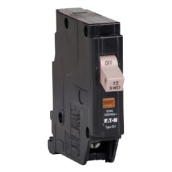 Single-Pole CH Thermal Magnetic Circuit Breaker w/ Trip Flag (15A, 120/240V) Product Image