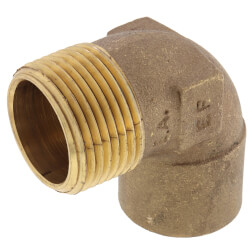 "1"" C x M Cast Brass 90° Elbow (Lead Free) Product Image"