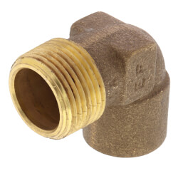 "3/4"" C x M Cast Brass 90° Elbow (Lead Free) Product Image"