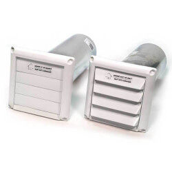 """COM6P Plastic Supply<br>& Exhaust Hood Combo (Pair), 6"""" Duct Product Image"""