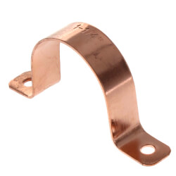 "1-1/4"" 2 Hole Carbon Steel Strap (Copper Plated) Product Image"