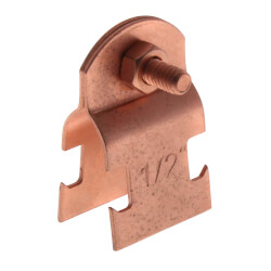 "1/2"" Copper Plated Multi-Strut Pipe Clamp Product Image"