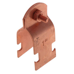 """1"""" Copper Plated Multi-Strut Pipe Clamp Product Image"""