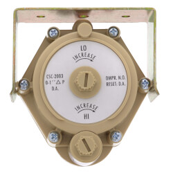 Pneumatic VAV Reset Volume Controller, Direct Acting, Paper Dial, NO Product Image