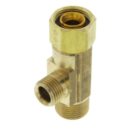 "3/8"" OD Tube x 3/8"" OD Tube x 1/4"" Female Compression Nut Adapter Product Image"