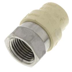 "1/2"" CPVC x Female Stainless Steel Adapter (Lead Free) Product Image"