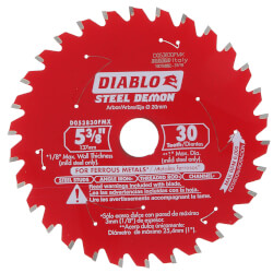"5-3/8"" Steel Demon Metal Cutting Saw Blade w/ 30 TCG Teeth & 20mm Arbor Product Image"
