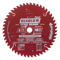 "6-1/2"" Steel Demon Metal Cutting Saw Blade w/48 TCG Teeth Product Image"