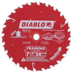"7-1/4"" Lumber Cutting Saw Blade w/24 ATB Teeth Product Image"