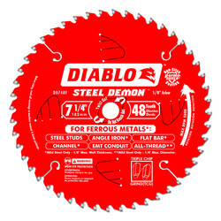 "7-1/4"" Steel Demon Metal Cutting Saw Blade w/48 TCG Teeth Product Image"